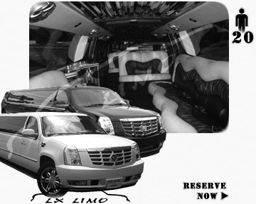 Cadillac Escalade 20 passenger SUV Limousine for rental in Miami, FL