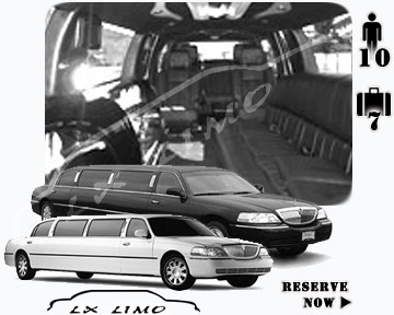 Stretch Limo airport shuttle in Miami